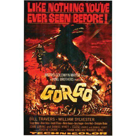 Gorgo Movie Poster Cling Halloween Decoration, Multicolor Walmart - walmart halloween decorations