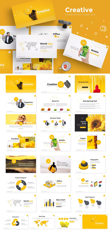 creative powerpoint presentation template unlimiteddownloads