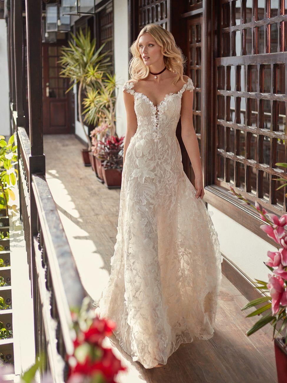 Vestido de Noiva casamento civil floral