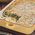 Semolina and Spinach Gratin - I doubled nutmeg and spinach