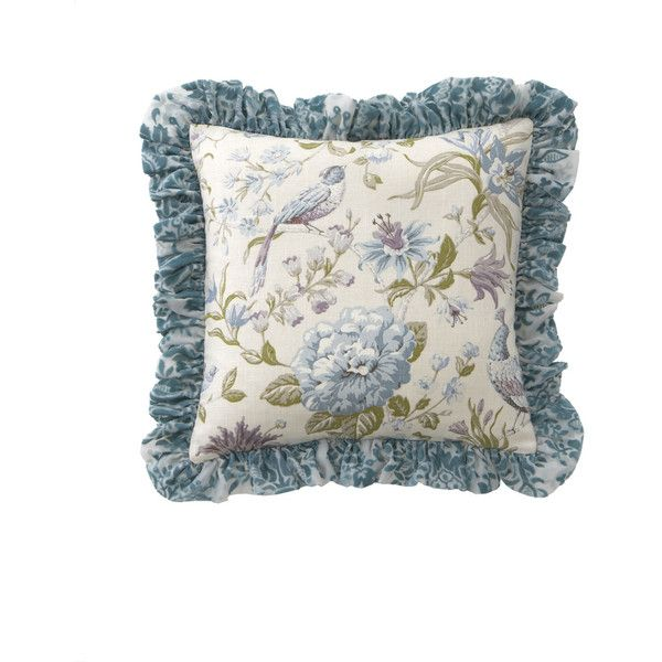 "Dian Austin Couture Home Ruffled Cotswold Cottage Pillow, 20""Sq. ($160) ❤ liked on Polyvore"