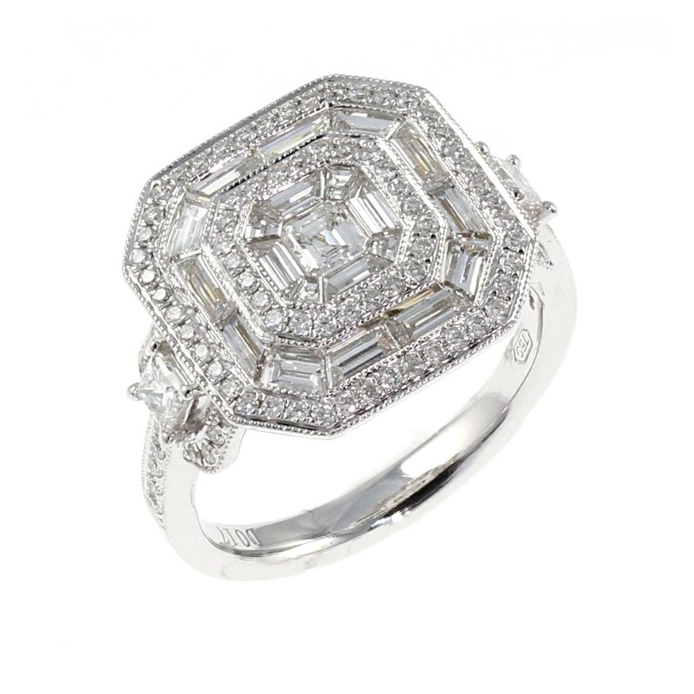 filigree platinum ring diamond art products sapphire bands sapp deco shop