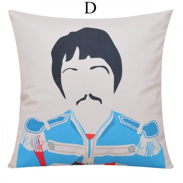 The Beatles throw pillows for couch Lennon and McCartney sofa cushions