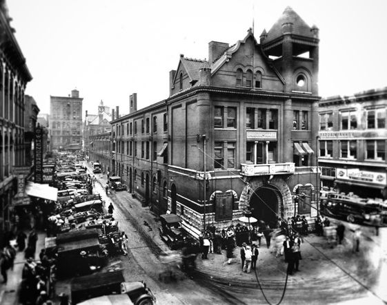 Worksheet. East side of Historic Market Square Knoxville TN from Union