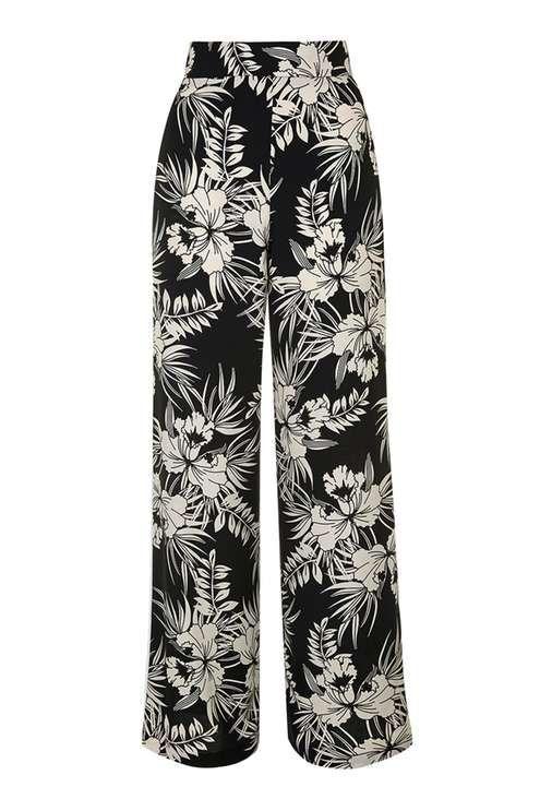 ed994575b8bb PETITE Floral Wide Leg Trouser | clothes | Floral wide leg trousers ...
