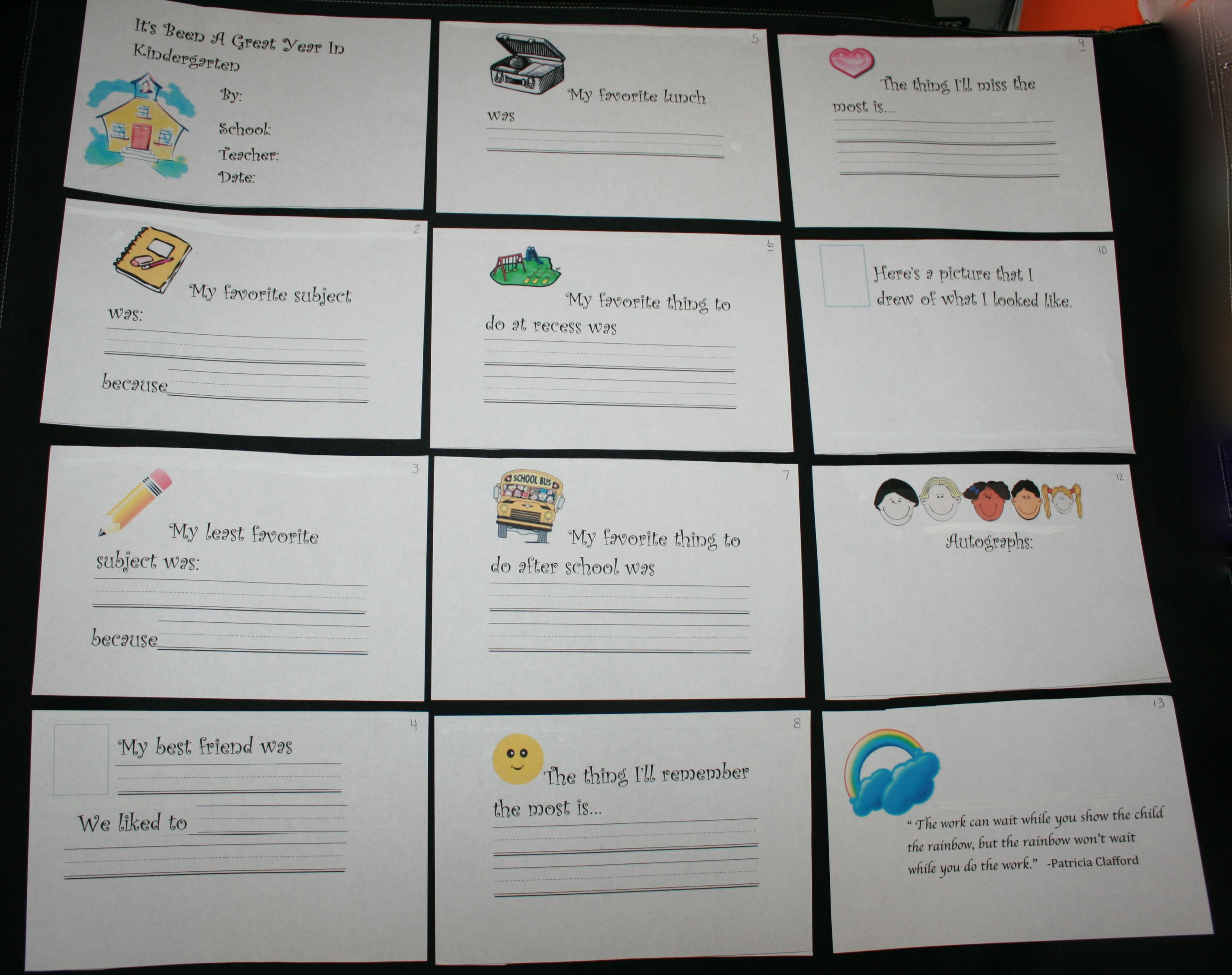 School Memory Book For A Fun End Of The Year Writing Prompt Different Covers For Preschool 2nd