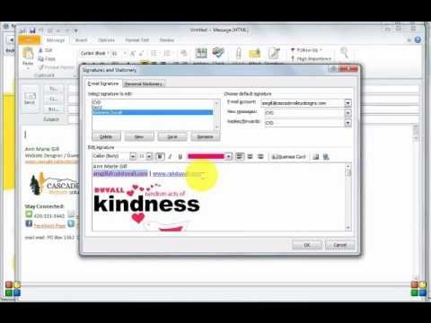 How To Add Your Logo To Your Outlook Email Signature Youtube Outlook Email Signature Email Signatures Windows Live Mail