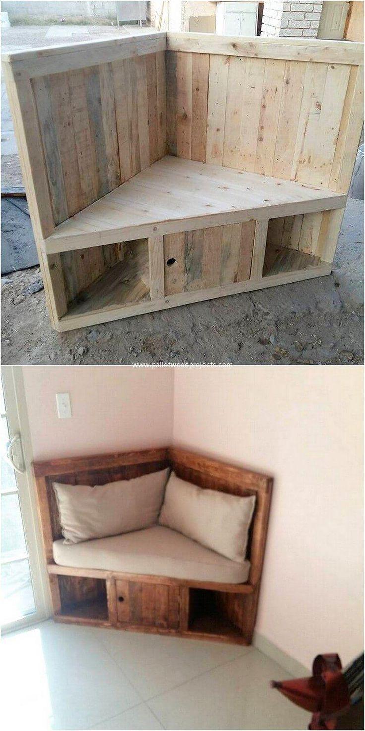 Hervorragende und frische Holzversand-Paletten-Ideen #palletbedroomfurniture
