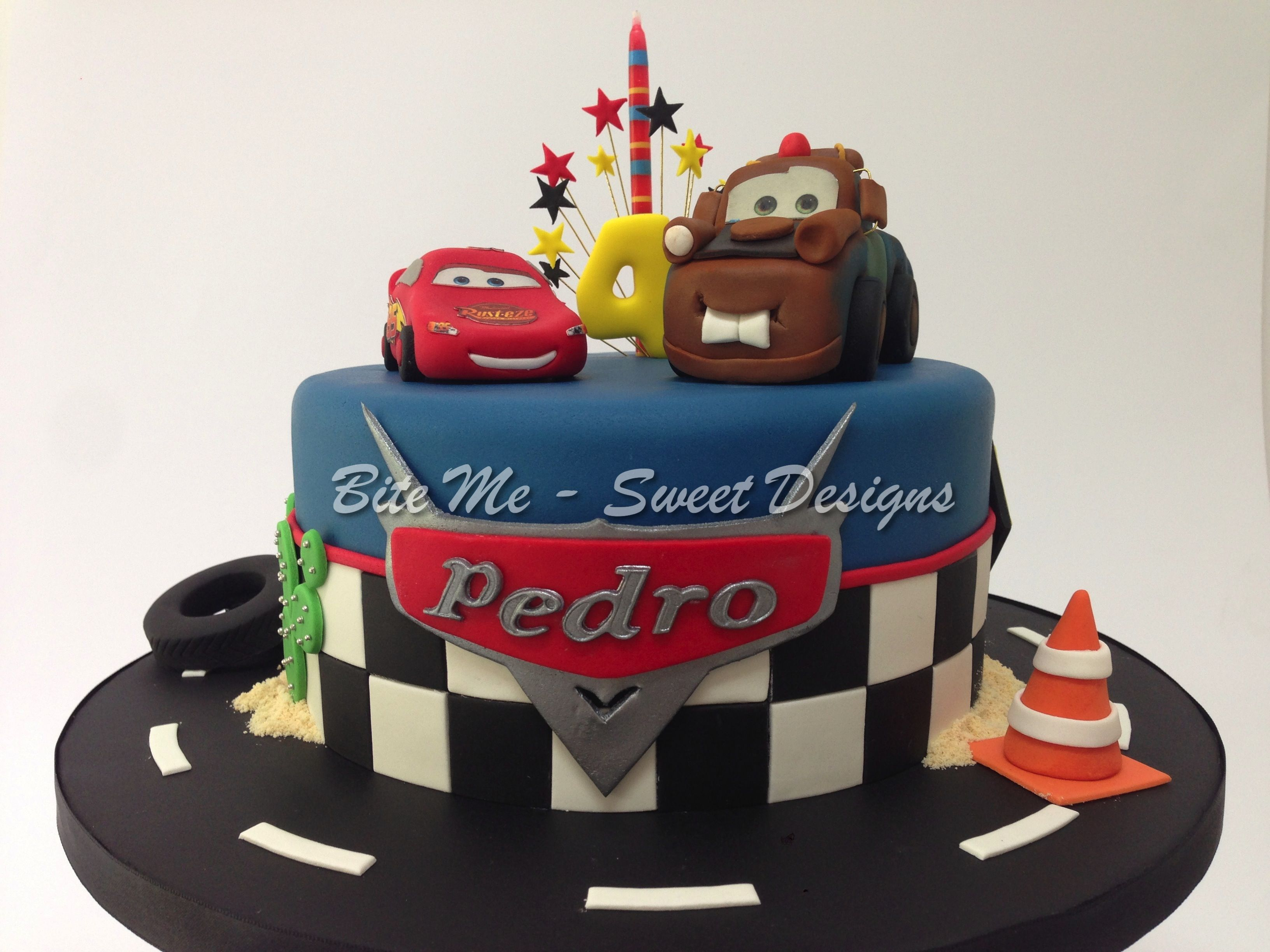 Lightning Mcqueen And Mater Cake With Images Lightning Mcqueen