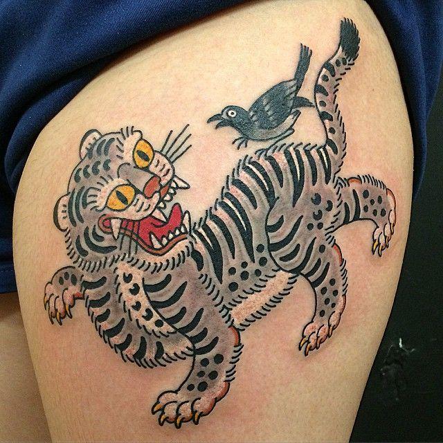 Kiku (tatoueur) - Korean Tiger - 2015