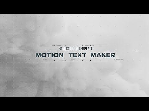motion text maker after effects template motion graphics l 2d