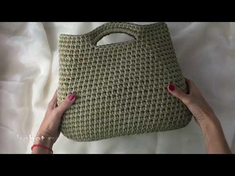 a0583ac0af19 Видео обзор сумки-тоут из трикотажной пряжи. - YouTube