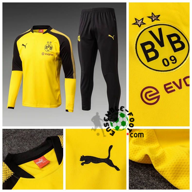 Jogging De Foot Pas Cher Survetement Dortmund Bvb Enfant Jaune 2017 2018 Sweatpants Pants Dortmund