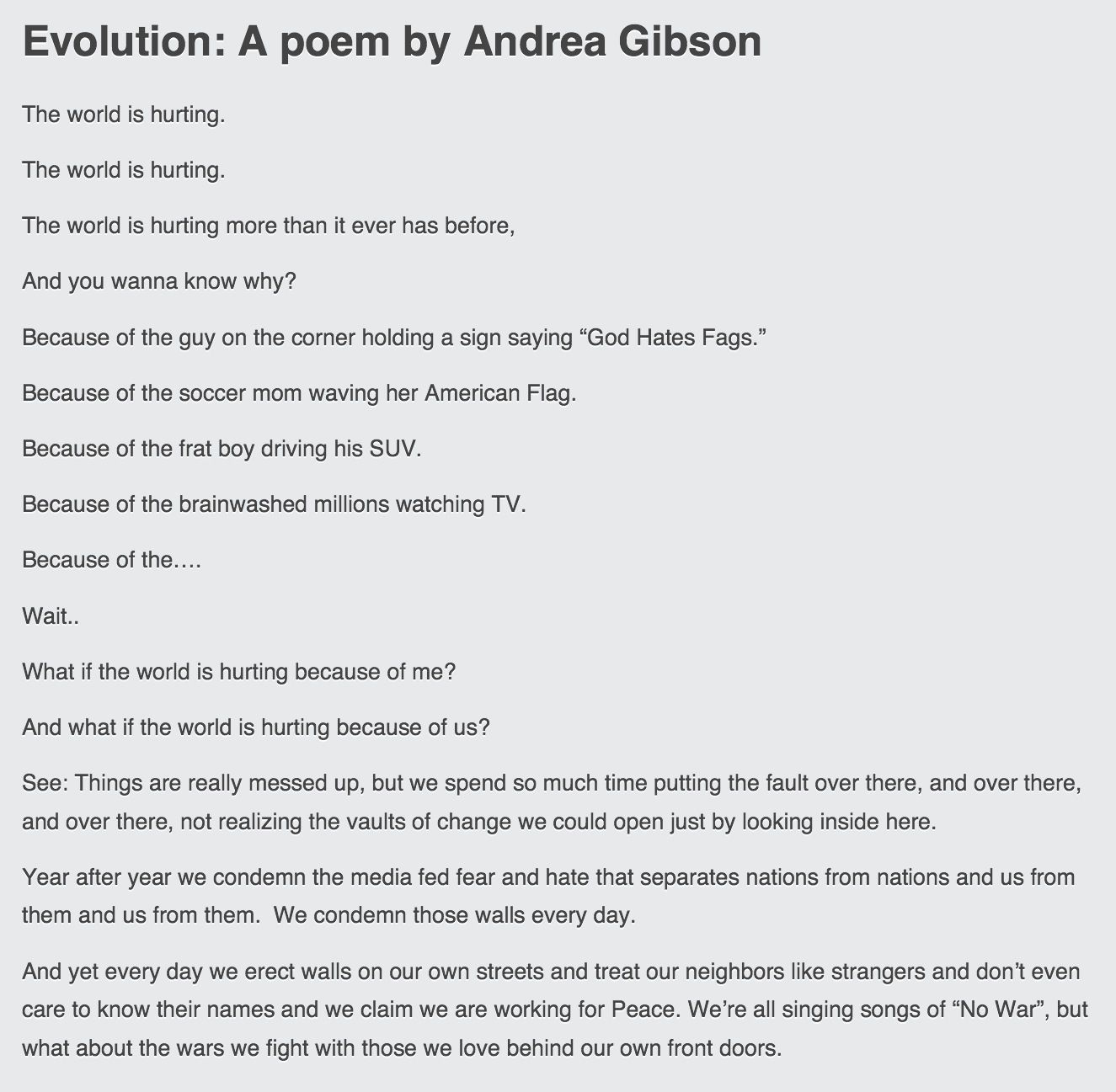 Excerpt from evolution andrea gibson poetry pinterest poem excerpt from evolution andrea gibson reviewsmspy