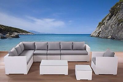 White Sofa New House Ibiza Style Patio Rattan Garden