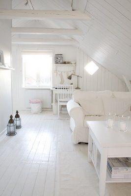 Pretty White Room I Adore The Painted White Floors