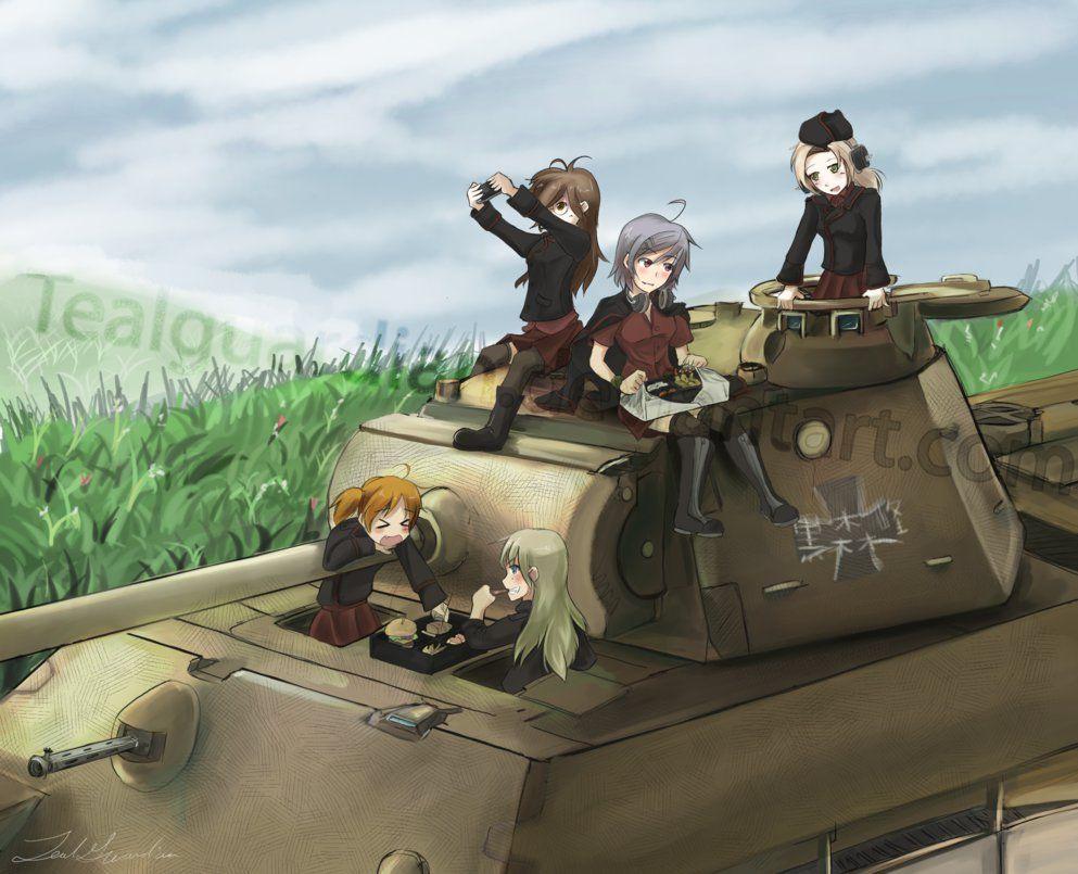 Girls Und Panther Tiger Tank Girl Cartoon Anime Tank