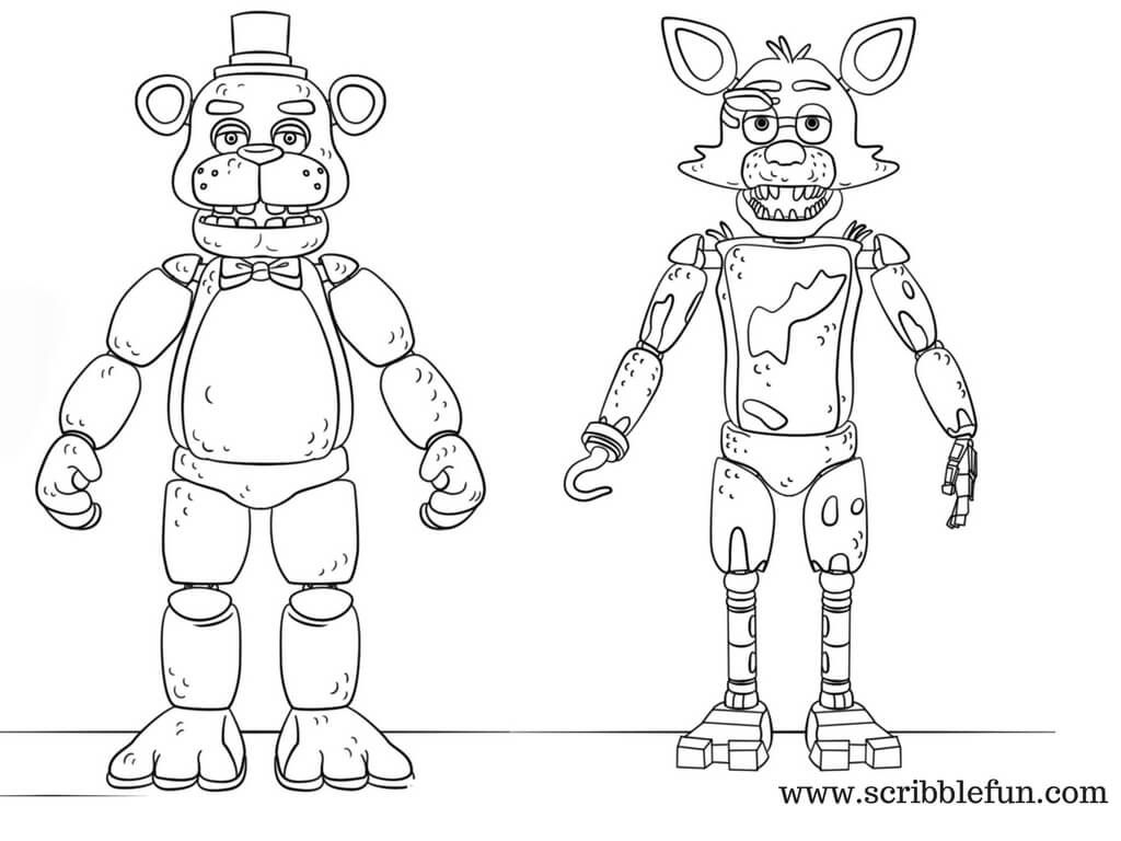 Free Printable Five Nights At Freddy S Fnaf Coloring Pages