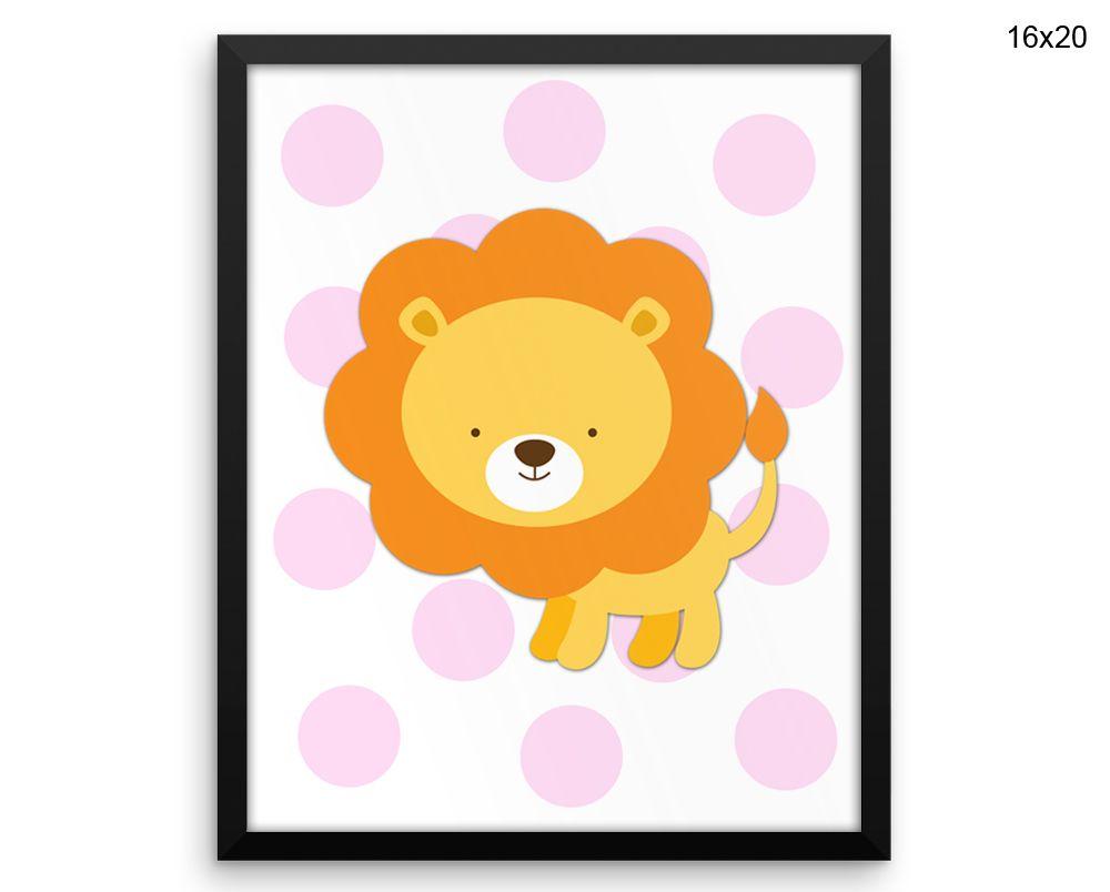 Lion Wall Art Framed Lion Canvas Print Lion Framed Wall Art Lion ...