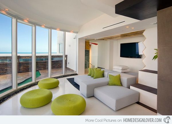 15 Lovely Grey and Green Living Rooms | Sala comedor y Comedores