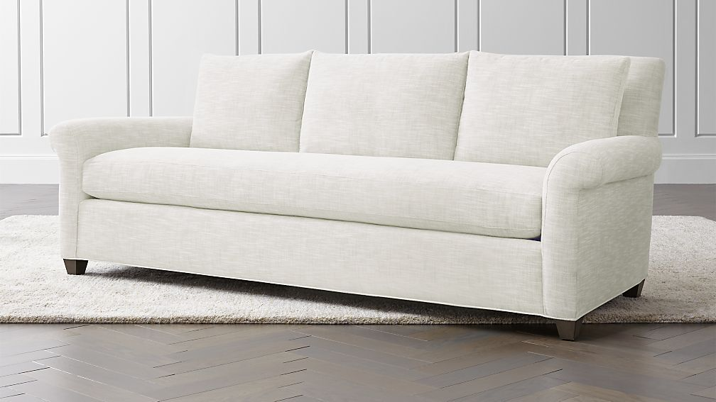 Admirable Cortina White Roll Arm Sofa Reviews Crate And Barrel Gamerscity Chair Design For Home Gamerscityorg
