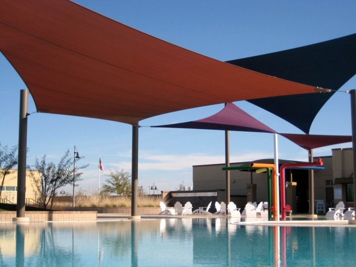L o v e shade sails we have one over 1 2 of our pool here in az it 39 s where everyone ends up for Phoenix swimming pool white city