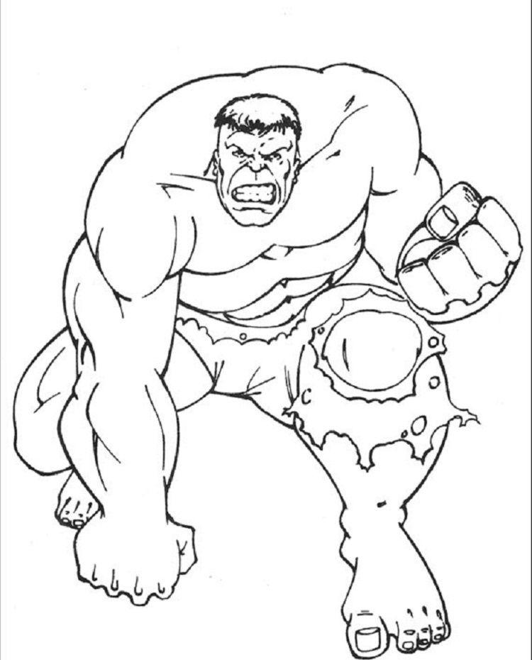 Hulk Coloring Pages Printable Hulk Coloring Pages Cartoon Coloring Pages Marvel Coloring