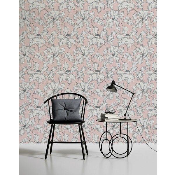 Papier peint Exotic flower rose - Urban flowers AS Création   Réf ...