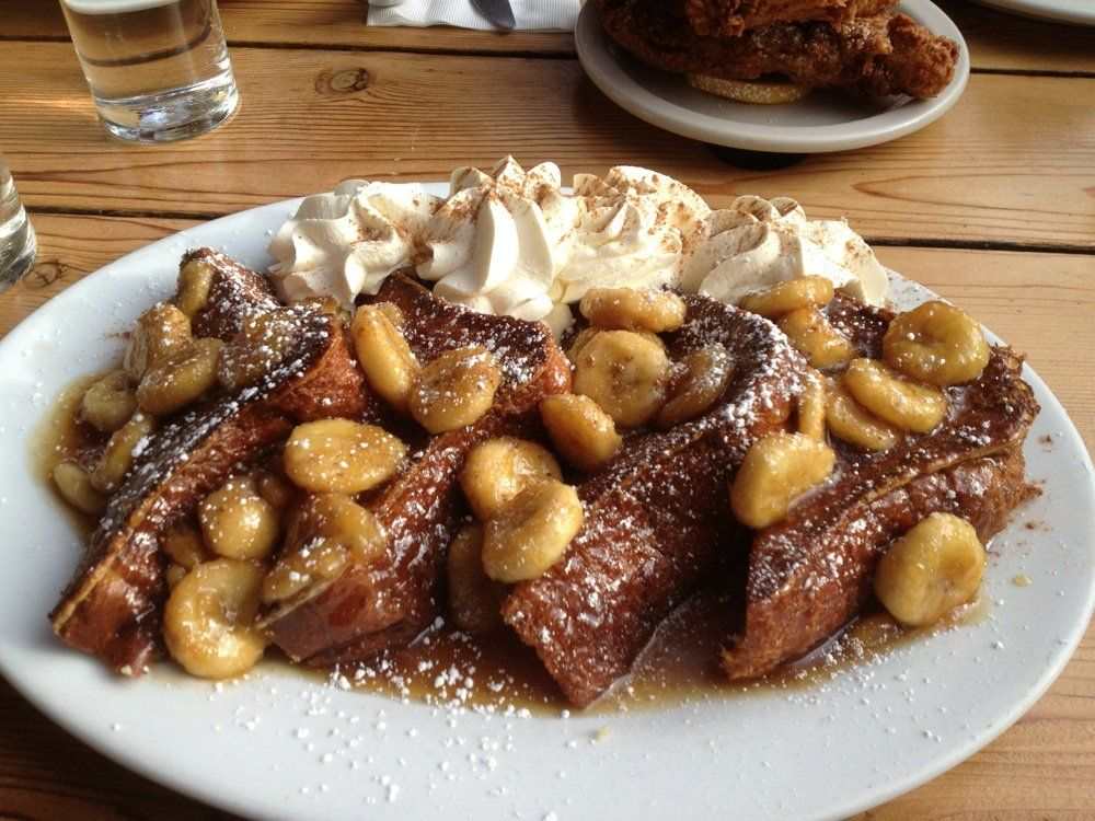 Bananas Foster French Toast @ The Screen Door  Portland