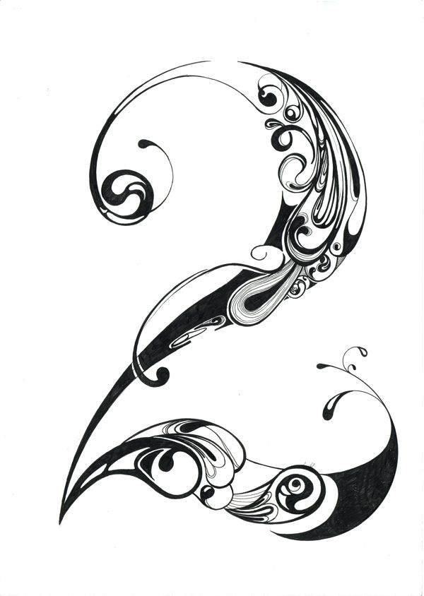 number 2 by Jin Bae, | Calligraphy | Tribal tattoos ...