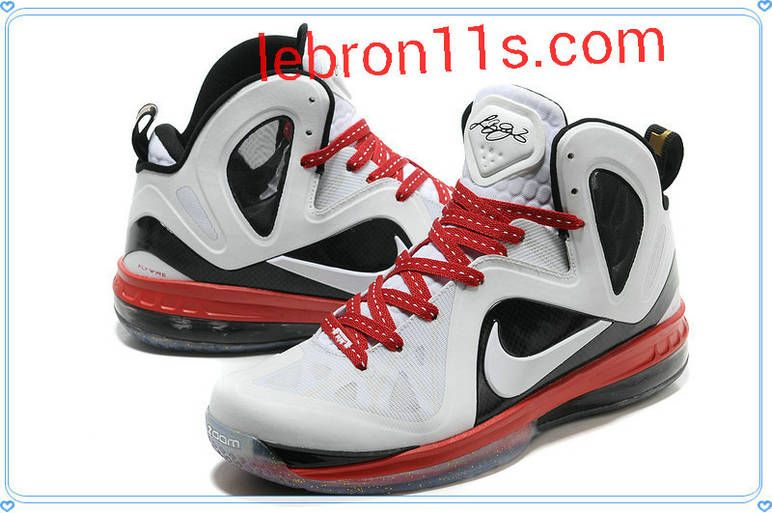 competitive price 16dd6 90c57 Cheap Lebrons Shoes Lebron 9 Elite White Black Varsity Red 516958 003