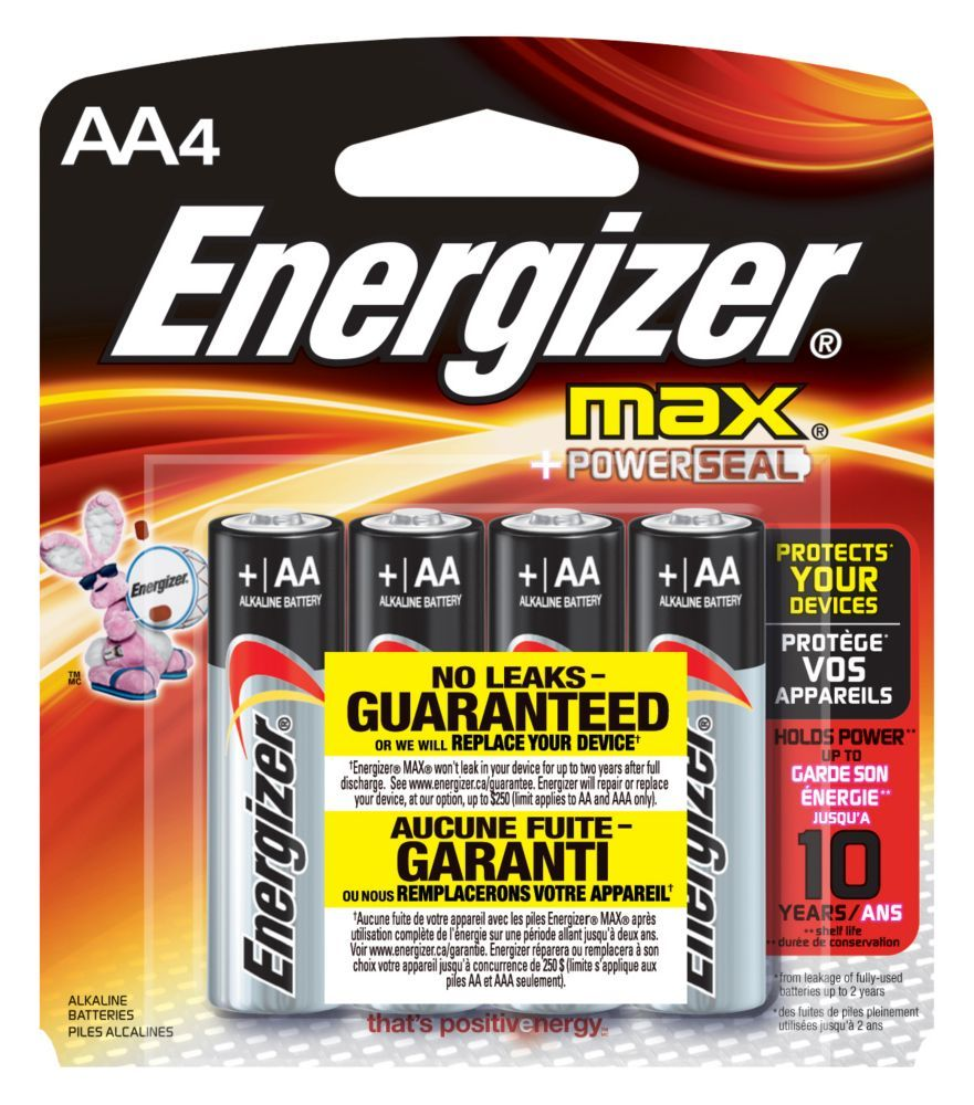 Max Aa4 Energizer Energizer Battery Batteries