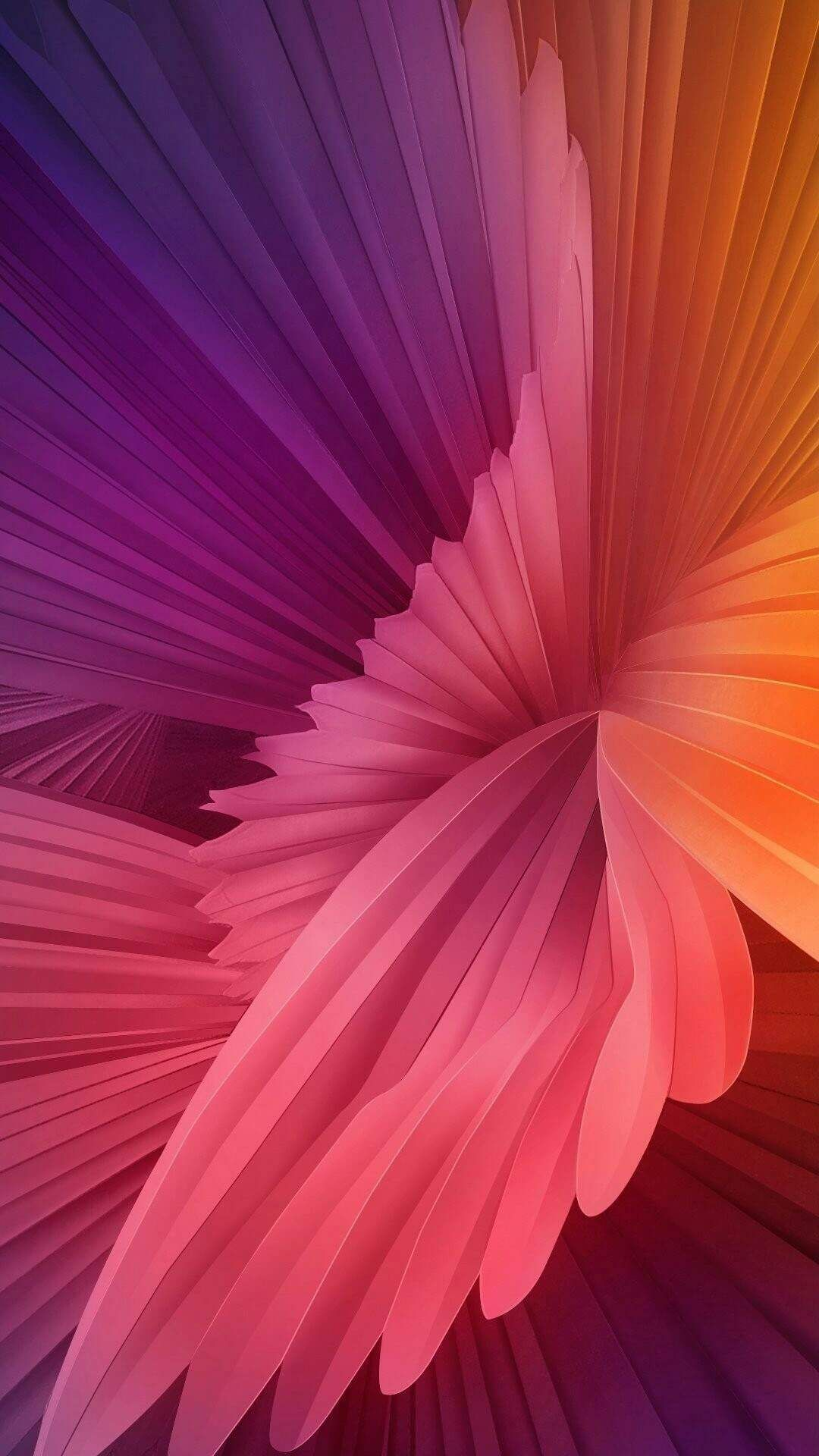 Abstract Colors Flower iPhone Wallpaper