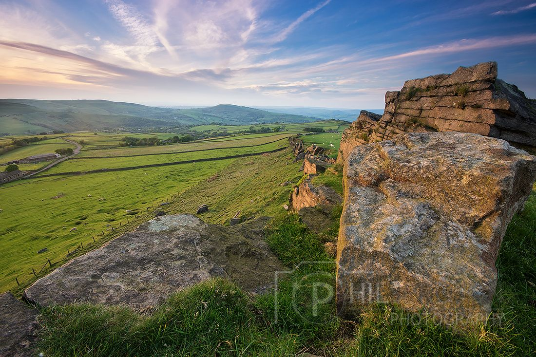 Windgather Rocks at sunset