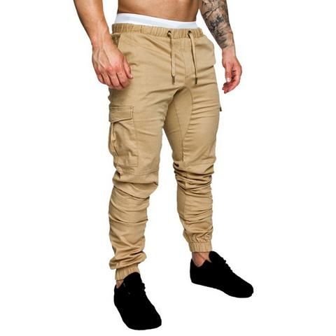 5a9afad0231864 SHUJIN Plus Size 4XL Men Harem Pants Fashion Solid Elastic Waist Joggers  Trousers Casual Multi-Pockets Hip Hop Mens Sweatpants