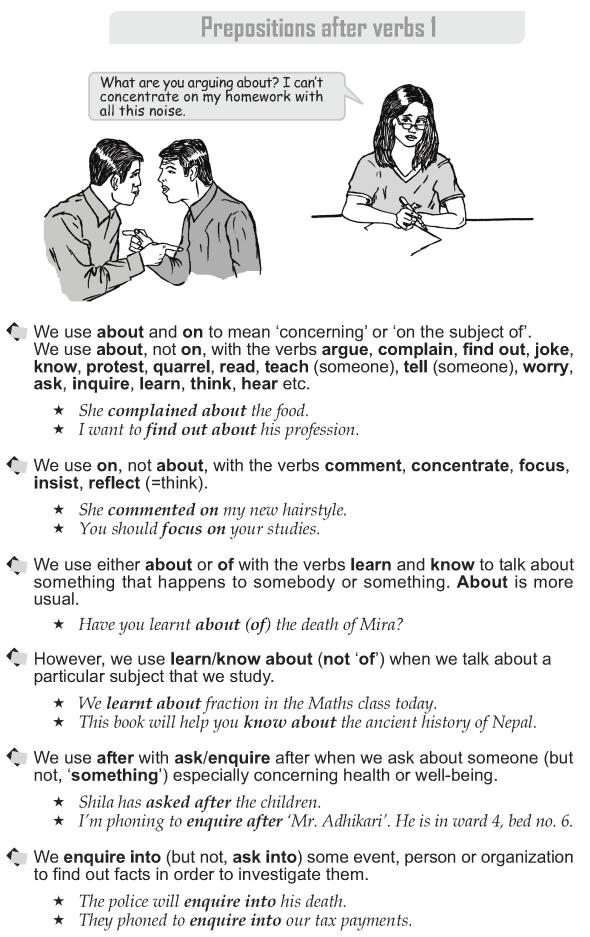 Grade 10 Grammar Lesson 43 Prepositions after verbs (1)   Grammar ...