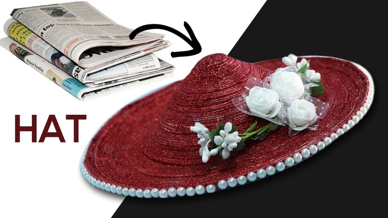 DIY Baby Hat With Newspaper Best Out Of Waste Craft Ideas