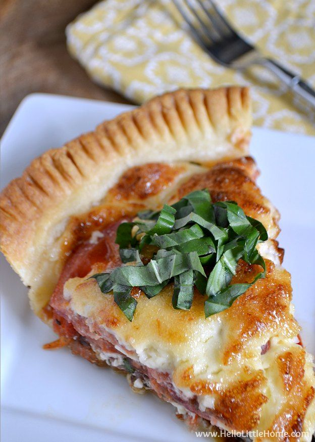 Savory Tomato Feta And Basil Pie