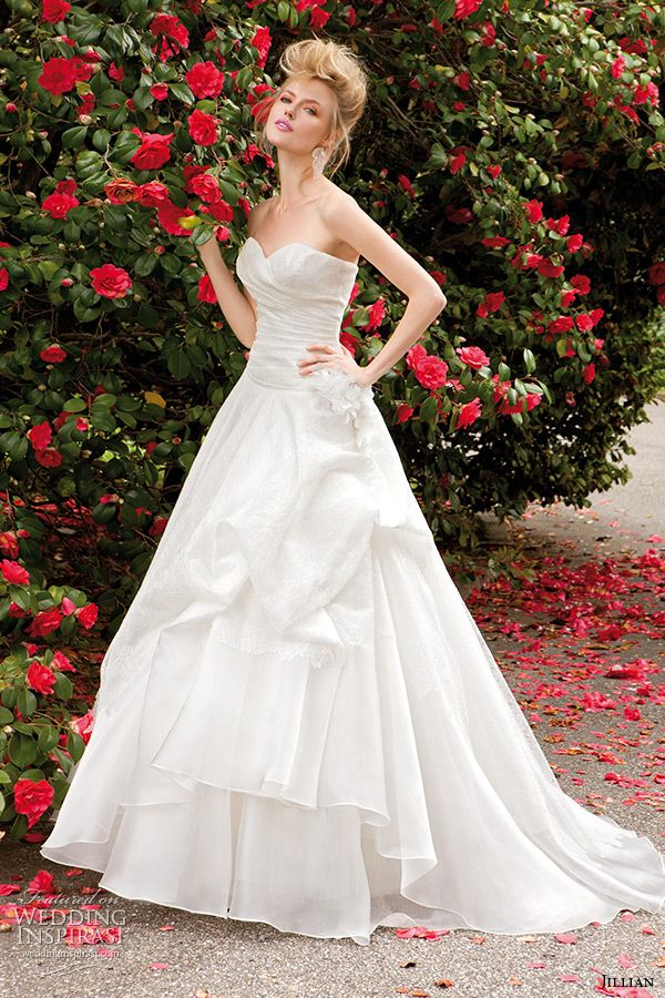 2e1c4deda12 jillian 2015 wedding dresses strapless sweetheart neckline gathered a line bridal  gown