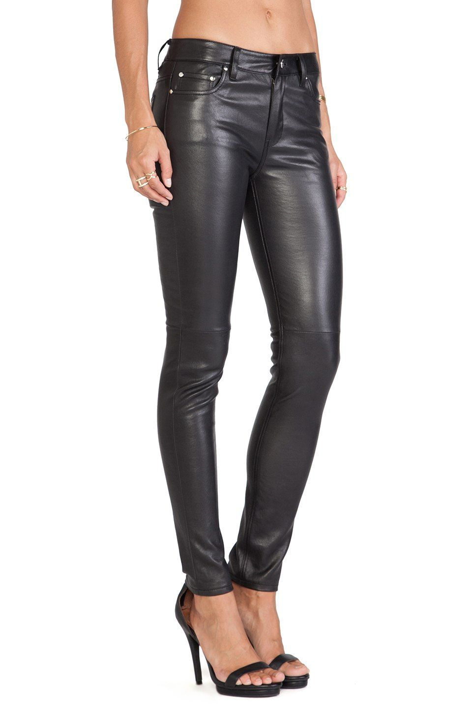 b26ea3f2 BLK DNM Leather Pant 22 in Black | REVOLVE | leather | Black leather ...