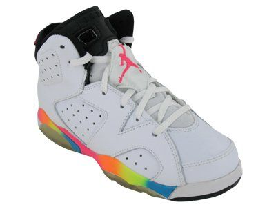 I had these in 7th grade...I think the girls would love them - Nike Kids NIKE  AIR JORDAN 6 RETRO (PS) BASKETBALL SHOES e3a098dbb