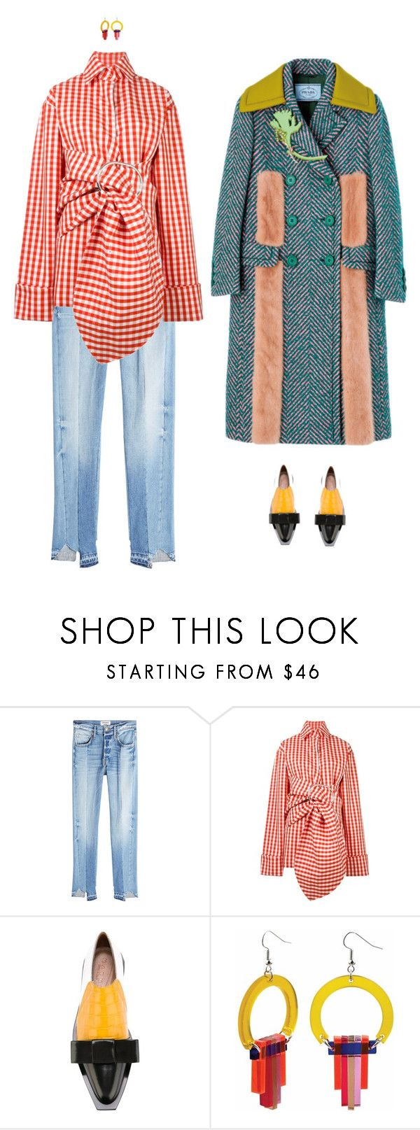 """""""Paula"""" by sandrastories ❤ liked on Polyvore featuring Frame, Marques'Almeida, Marni and Toolally"""