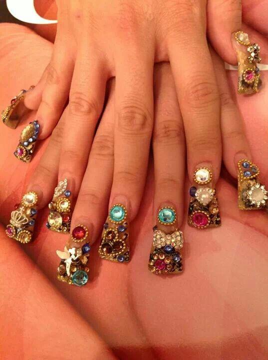 Awww.. divinas uñas estilo sinaloa. | nail design | Pinterest ...