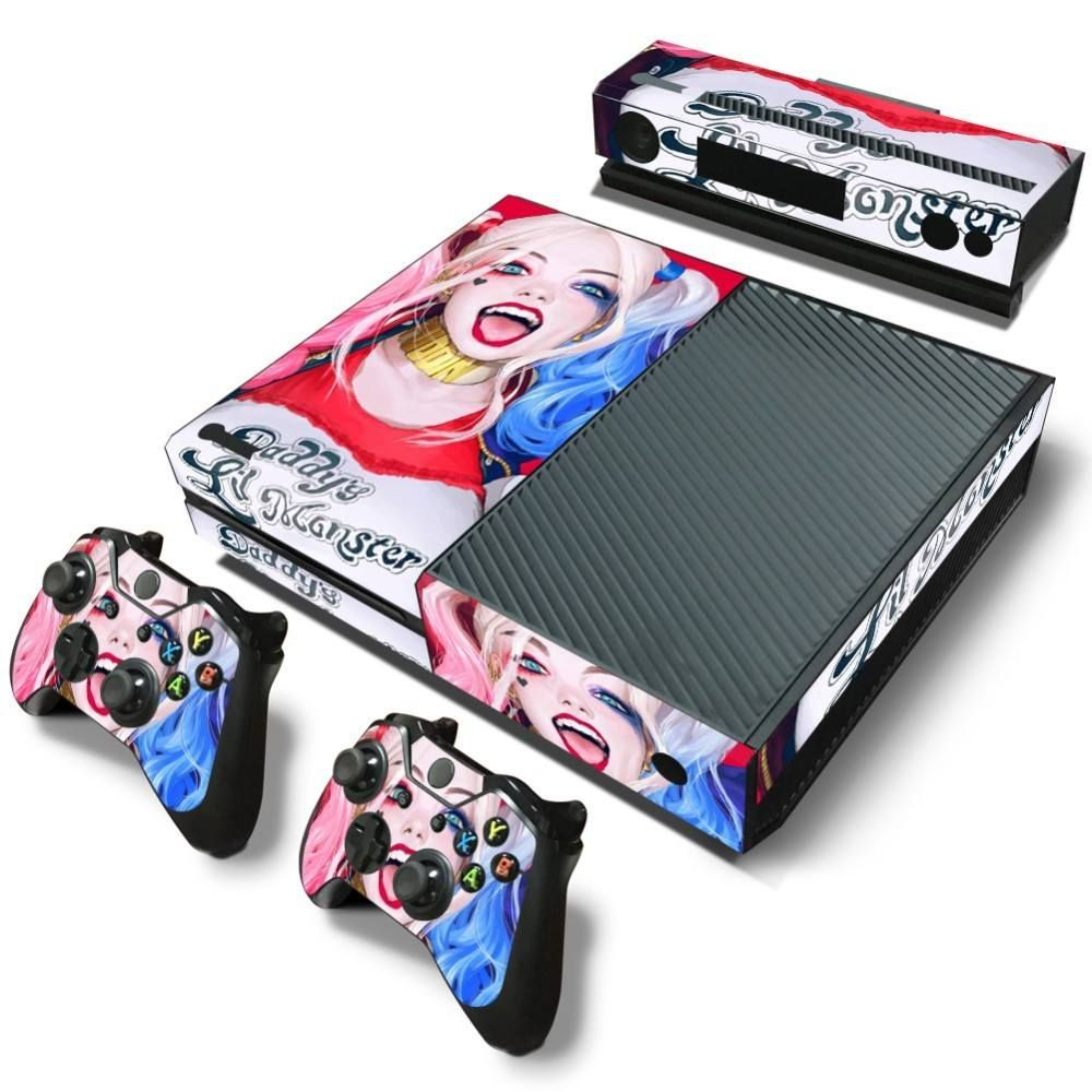 Daddys little monster harley quinn xbox one skin sticker xbox daddys little monster pvc skin sticker product specifications xbox one console controller skin kinect skin sticker setcollc compatibility for xbox sciox Images