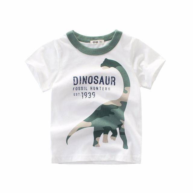 ae9a2c36eda Baby Boys T shirt Children Clothing Cartoon Pattern Clothes Boys Short  Sleeve Tops Kids T-shirts for Boy Sweatshirt Summer 2018