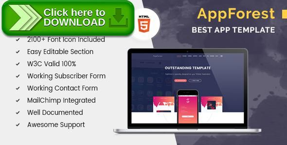 Free nulled AppForest Apps Landing Page download Mobile app templates - Free App Template