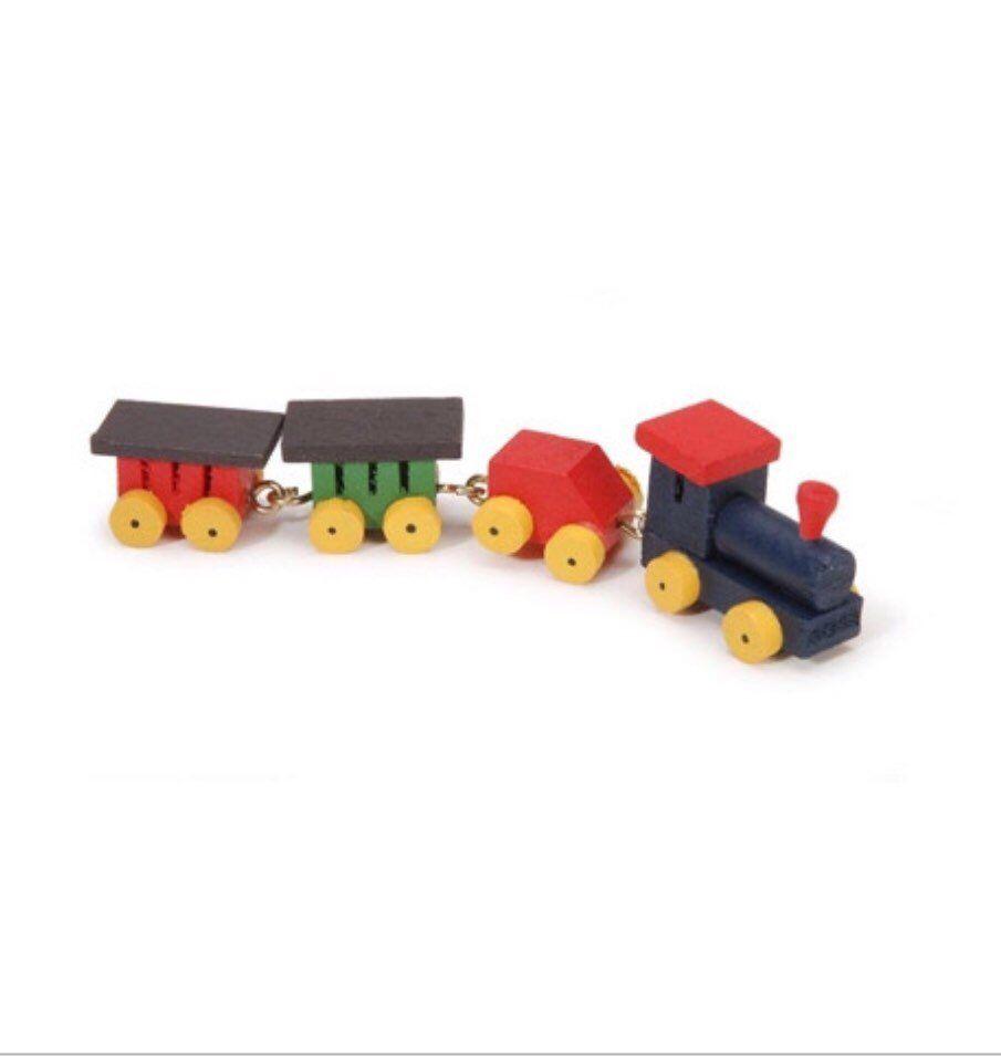 Nursery Accessory Classic Boys Toy Train Dollhouse 1:12 Scale Miniatu