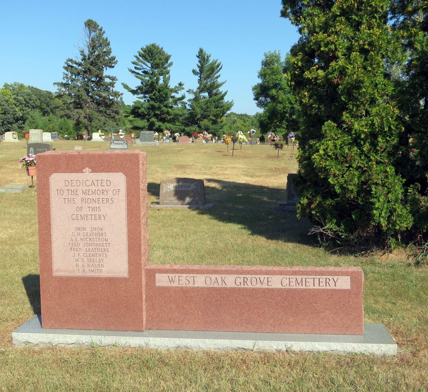 West Oak Grove Cemetery Oak Grove Anoka Minnesota Usa