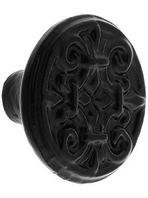 Large Fleur-de-Lis Cast-Iron Cabinet Knob with Choice of Finish ...