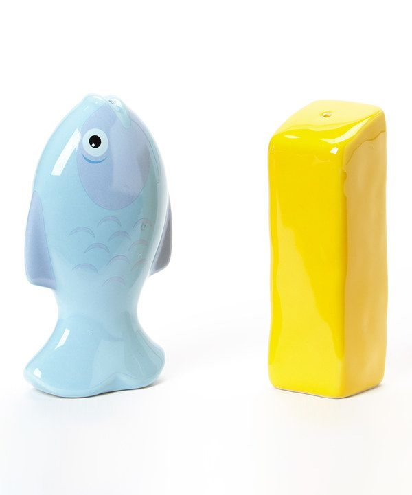 Look at this Fish & Chips Salt & Pepper Shaker Set on #zulily ...